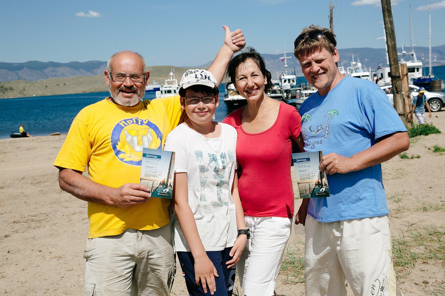 Экипаж лодки Горыныч на Байкальской парусной неделе