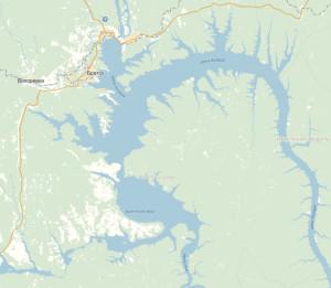 карта водохранилища
